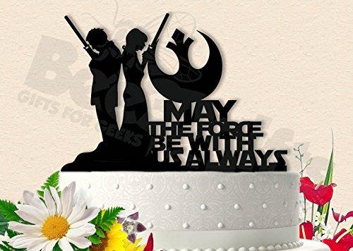 Amazon jedi couple star wars wedding cake topper handmade jedi couple star wars wedding cake topper junglespirit Images