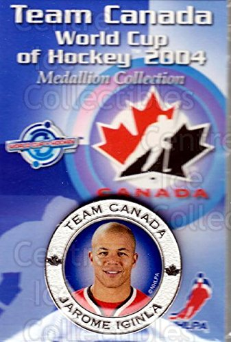 2004 World Cup Hockey - (CI) Jarome Iginla Hockey Card 2004 Team Canada World Cup Medallion 19 Jarome Iginla