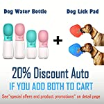 MalsiPree Dog Water Bottle, Leak Proof Portable Puppy Water Dispenser with Drinking Feeder for Pets Outdoor Walking, Hiking, Travel, BPA Free Food Grade Plastic 12