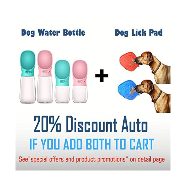 MalsiPree Dog Water Bottle, Leak Proof Portable Puppy Water Dispenser with Drinking Feeder for Pets Outdoor Walking, Hiking, Travel, BPA Free Food Grade Plastic 3