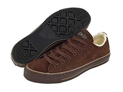 1d03a43b8856 Converse Chuck Taylor All Star Brown Suede Leather Shearling Lined Ox  112411 (6.5(M