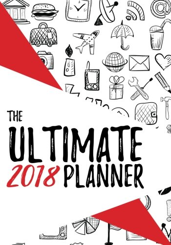 2018 The Ultimate Planner: Red 7x10 Habit Tracker and Journal