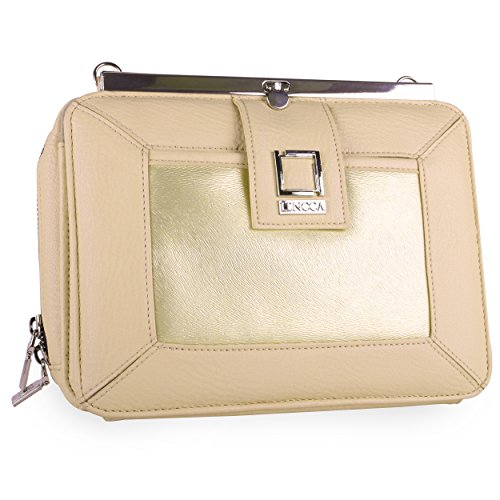 lencca-esvivina-crossbody-clutch-wallet-carrying-case-for-cell-phones-and-small-tablets-cream-gold