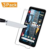 [3-Pack] Google Pixel 2 XL Screen Protector, MOCACA Google Pixel 2 XL 9H Hardness 99% HD Clarity Premium Tempered Glass Screen Protector for Google Pixel 2 XL
