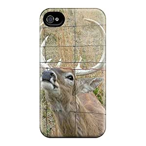 Ideal Case88me Cases Covers For Iphone 6(a Curious Buck Smelling A Fence), Protective Stylish Cases