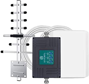 Tri-Band Cell Phone Signal Booster Repeater for Verizon AT&T T-Mobile 3G 4G LTE - Enhances Your Cellular Voice & Data in Home/Office Up to 4,500Sq Ft (Supports Band 5/12/13/17)
