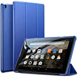 ESR Fire HD 10 Tablet Case, Light Weight Smart Trifold Stand Case with Auto Sleep/Wake, Microfiber Lining, Hard Back Cover compatible for the Fire HD 10.1 Inch 7th Generation(2017 Release), Blue