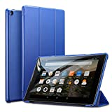 ESR Fire HD 10 Tablet Case, Light Weight Smart Trifold Stand Case with Auto Sleep/Wake, Microfiber Lining, Hard Back Cover Compatible for The Fire HD 10.1 inch 7th Generation(2017 Release),Navy Blue