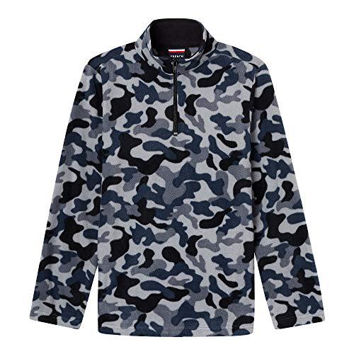 - French Toast Boys' Toddler Long Sleeve Microfleece Sweatshirt, Gray camo, 3T