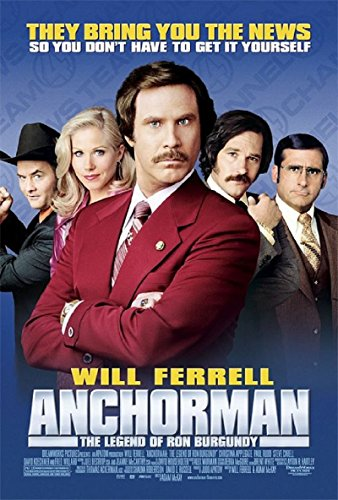 Anchorman: The Legend of Ron Burgundy 2004 S/S Movie Poster 11x17