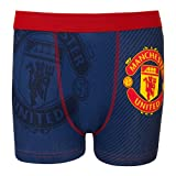 Manchester United FC Official Football Gift 1 Pk Boys Boxer Shorts Navy 7-8 Yrs
