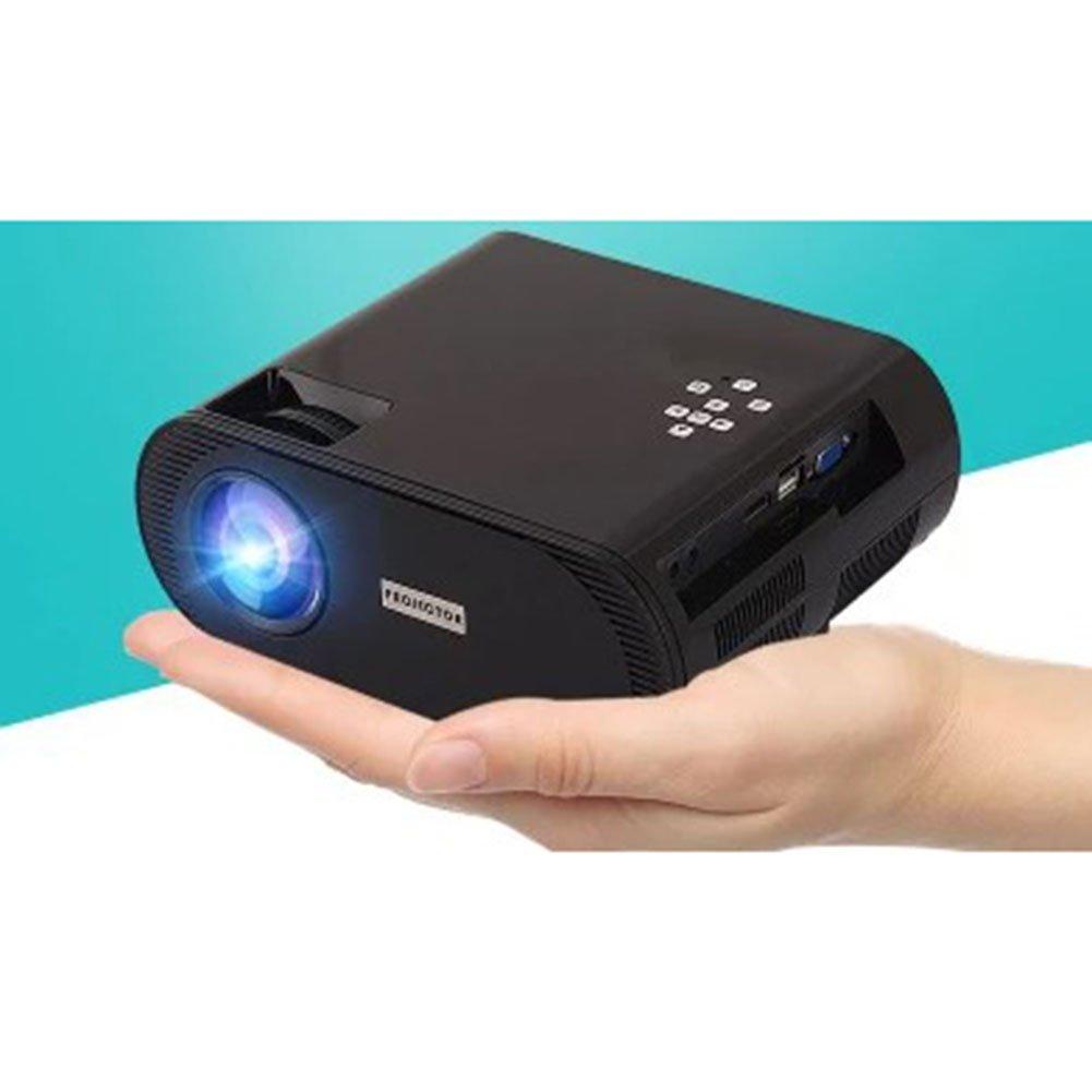ミニ ポータブルプロジェクター、 画面共有 内蔵バッテリ ムービープレーヤー 画面投影 ホームシアター 無線LAN 1080p4K HD 1GBの実行メモリ,Black,Upgradedversion Upgradedversion Black B07R33GTZF