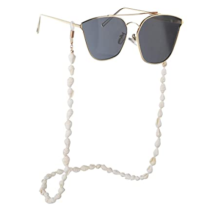Bangxiu Cadena de Gafas de Concha pequeña Blanca Gafas de ...