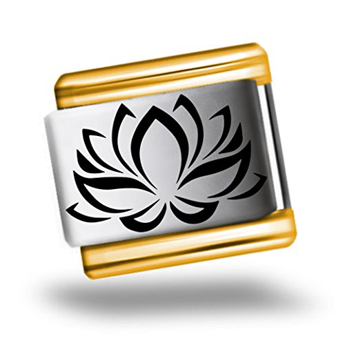 lotus-yoga-zen-flower-laser-etched-italian-charm-bracelet-link