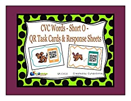 CVC Words - Short O - QR Code Task Cards & Response Sheets by [Kinney, Cyndi]