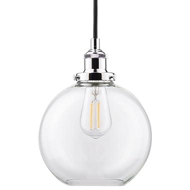 Primo LED Industrial Kitchen Pendant Light - Chrome Hanging Fixture - Linea di Liara LL-P429-LED-PC