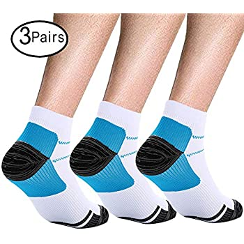 3 Pairs Compression Socks is best Athletic for Men and Women , Travel, Nurses, Pregnant Boost Performance, Blood Circulation Recovery, Compression Foot ...