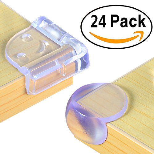 24 Packs Soft Baby Proofing Corner Guards, Dr.m...