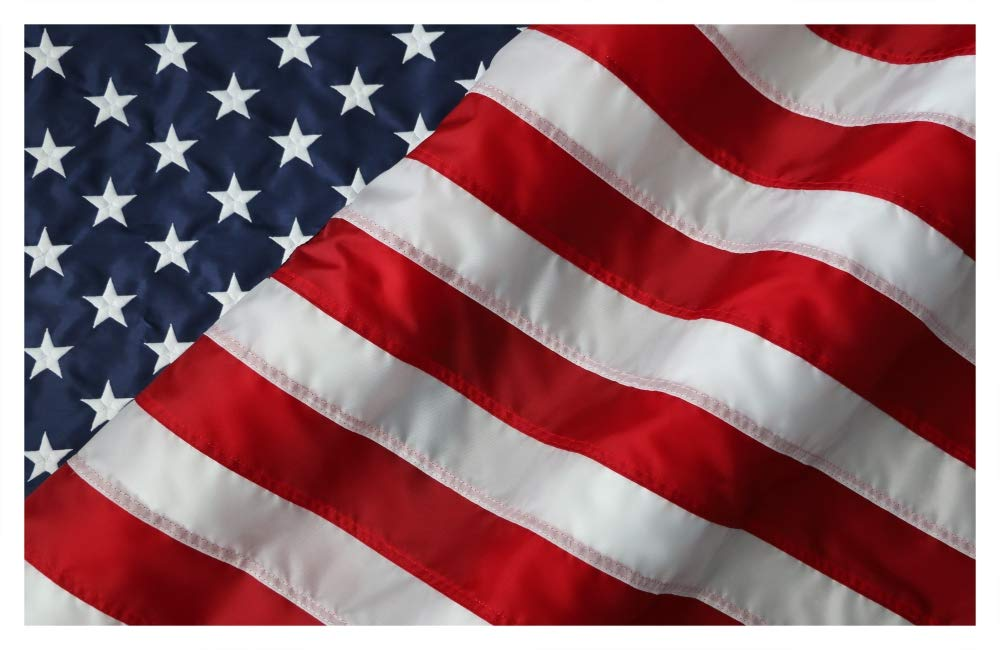 American Flag - Nylon US Flag - Sizes 5'X8', 6'X10', 8'X12' - 100% Made in USA (8 by 12 foot)