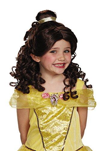 Hair Wig Costumes Accessory (Belle Child Disney Princess Beauty & The Beast Wig, One Size Child)