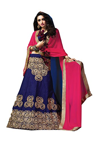 Indian Women Designer Wedding Blue Lehenga Choli Fabz-2610