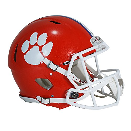 - Clemson Tigers Officially Licensed Revolution Speed Authentic Football Helmet