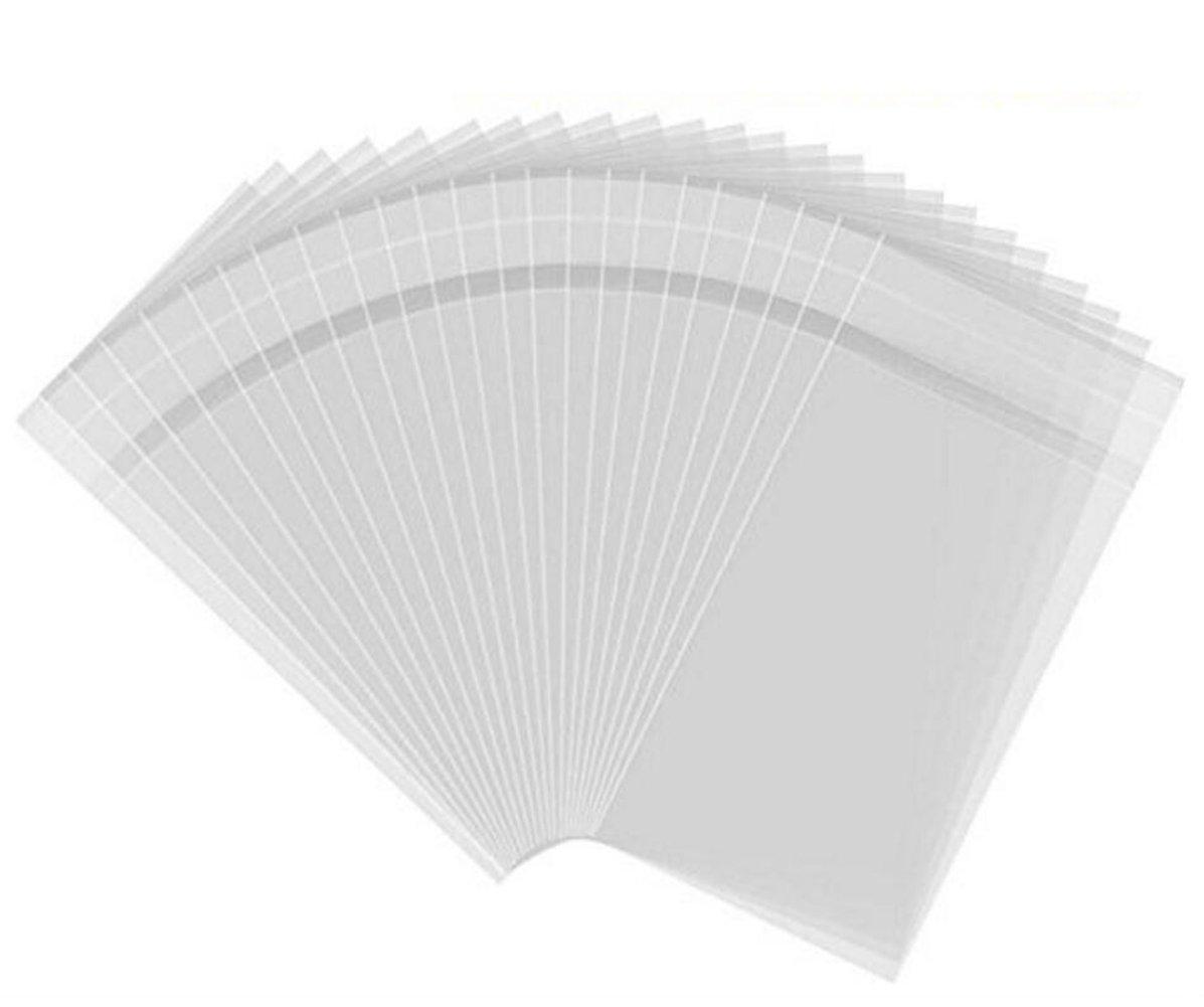 TUPWEL 50 Bolsas de Celofán de plástico para Almacenamiento de Ropa o Tienda de Regalo, 30 x 40 cm, con Cierre Autoadhesivo Transparente