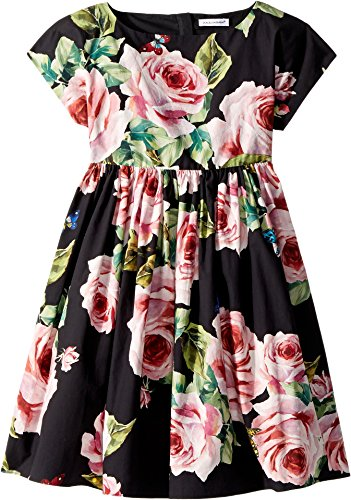 Dolce & Gabbana Kids Baby Girl's Sleeveless Dress (Toddler/Little Kids) Black Print 5 by Dolce & Gabbana