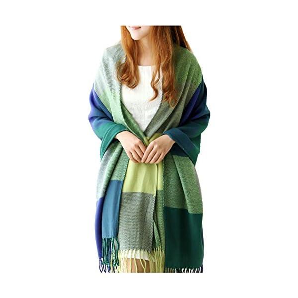 XDGOOD Pashmina Scarf & Fine Soft Comfortable Cashmere Shawl, Premium Large Scarf Women Scarves, Wraps Womans Warm, 75.6 X24 in,Green