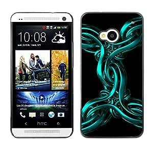 Be Good Phone Accessory // Dura Cáscara cubierta Protectora Caso Carcasa Funda de Protección para HTC One M7 // Abstract Metal 3D