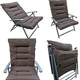 'Amaze' Folding Easy reclining household living room padded cushion chair- Dark Brown