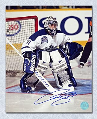 Curtis Joseph Toronto Maple Leafs Autographed Final Gardens Game 8x10 Photo