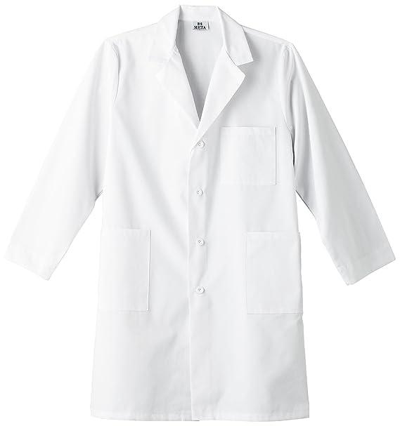 Meta Labwear - Abrigo de Laboratorio Unisex de Color de 101,6 cm - Blanco - 6X: Amazon.es: Ropa y accesorios