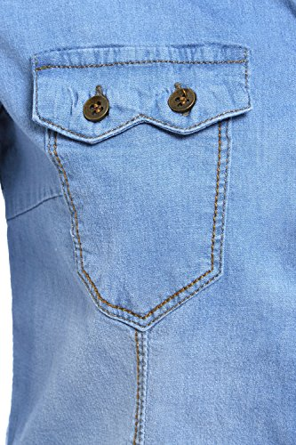 14 Taille 8 Chemise Jeans Femmes Bleu Nouvelles Extensible SS7 Jean vn7RWW