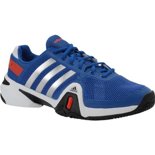 Adidas Adipower Barricade 8 Tennis Shoe - Blue/Metallic Silver (Mens) - 10