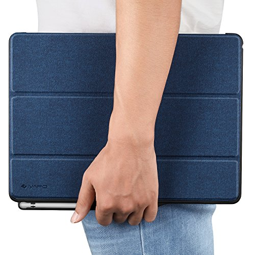 iPad Pro 12.9 Case, iVAPO [Brief Business Style] Premium PU Slim Fit Flip Folio Case with Apple Pencil Holder, [Stand Feature], Auto Sleep/Wake Smart Fabric Cover for iPad pro 12.9 inch-Blue (MM627) Photo #9