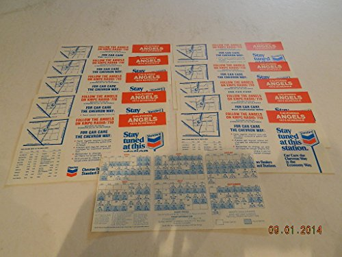 11 Schedule 1975 California Angels Schedules/Standard/Chevron Oil Never Folded M