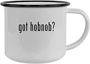 got hobnob? - 12oz Camping Mug Stainless Steel, Black