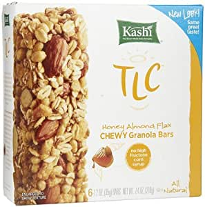 Kashi TLC Chewy Granola Bar Honey Almond Flax -- 6 Bars