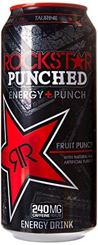 Rockstar Punch Energy Drink, 16-Ounce Cans (Pack of 24) (Packaging may vary)