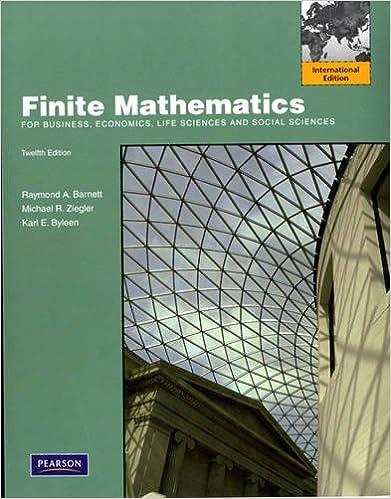 Finite Mathematics for Business, Economics, Life Sciences