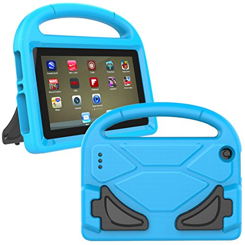 Kindle Fire 7 Case 2015 - Koantree Light Weight Shock Proof Kids Friendly Cover for Amazon Fire Tablet ( 7 inch Display,5th Generation,2015 Release Only ) (Blue)