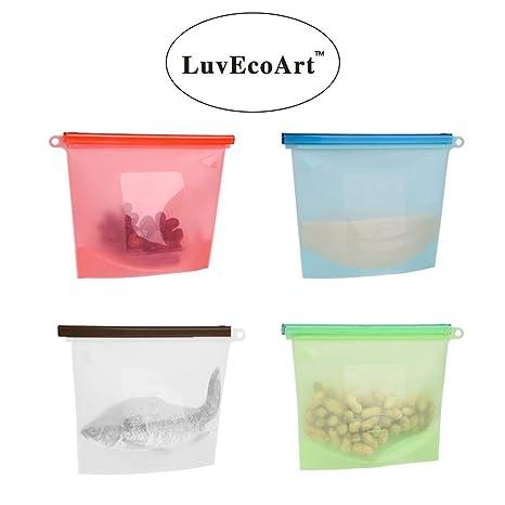 Amazon.com: LuvEcoArt - Bolsa de silicona para almacenar ...