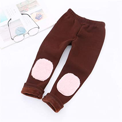 6a1437e5203311 Kids Girls Winter Leggings Thick Warm Fleece Lined Thermal Stretchy Full  Length Tight Pants Soft Cotton
