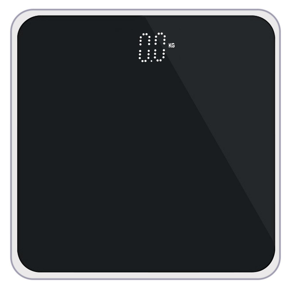 High Precision Digital Bathroom Scale,Basde Bathroom Scales Digital Weight with Measure Accurate Weight and Round Corner Design,Oversized Digital Weight Scale Display (Black)