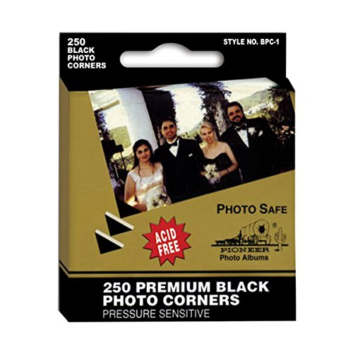 JAM Paper Photo Corners and Squares - Black - 250/pack