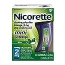Nicorette mini Nicotine Lozenge, Stop Smoking Aid, 2mg Mint Flavor, 81 count