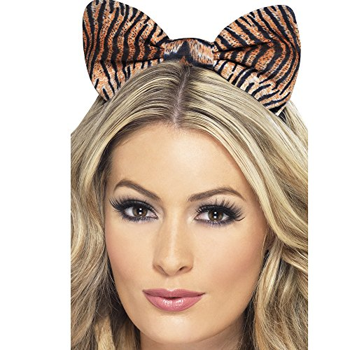 Tiger Print Dress Costume (Fever Women's Tiger Bow Headband, Tiger Print, One Size, 2870)