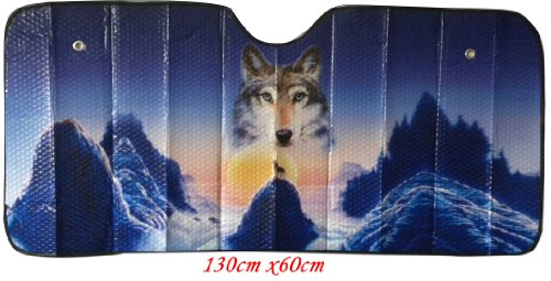 (Designcovers Wolf sun shade. Keep your car cool with a Wolf sun shade)