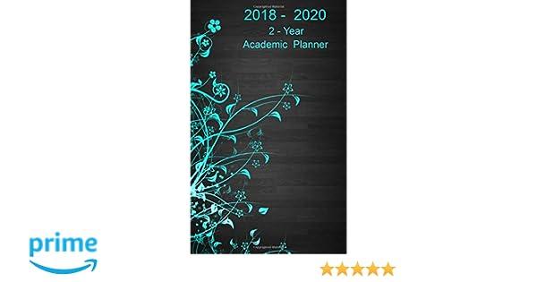 amazon com 2 year academic planner 2018 2020 pocket monthly